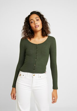 BUTTON THROUGH - Cardigan - ive green