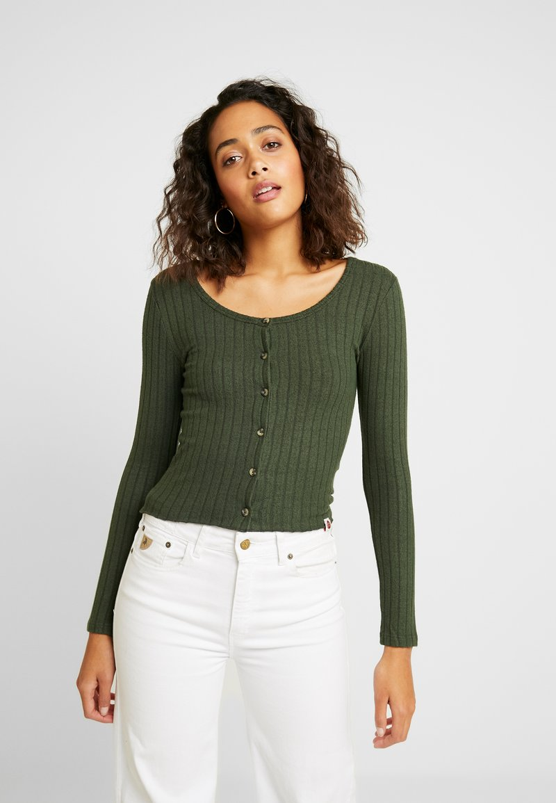 Superdry - BUTTON THROUGH - Cardigan - ive green