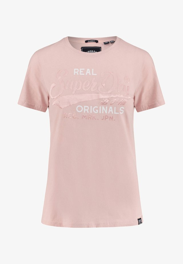 REAL ORIGINALS SATIN ENTRY TEE - T-shirt print - light pink