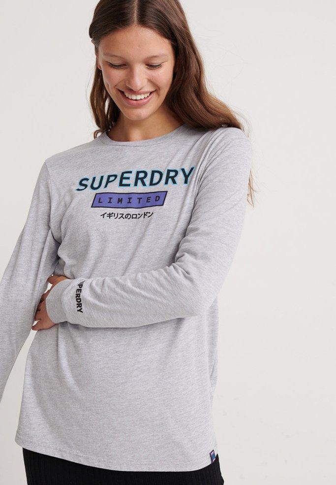 Superdry - SKATE GRAPHIC  - Langarmshirt - mid grey