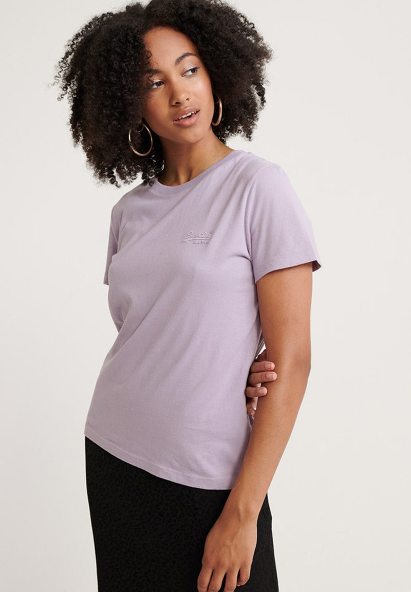 Superdry - ORANGE LABEL - T-Shirt basic - dusty lilac