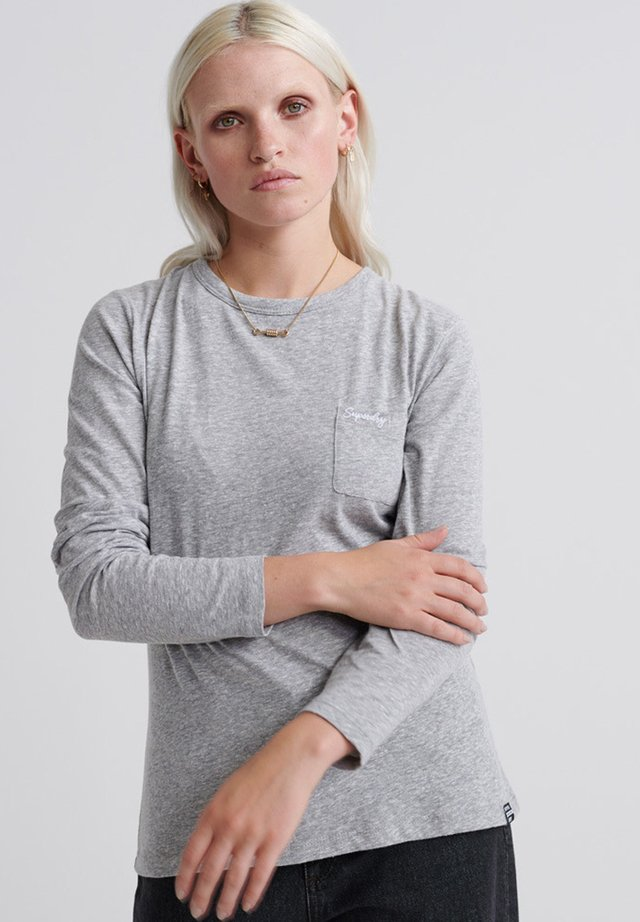OL ESSENTIAL LS TOP - Pitkähihainen paita - medium grey