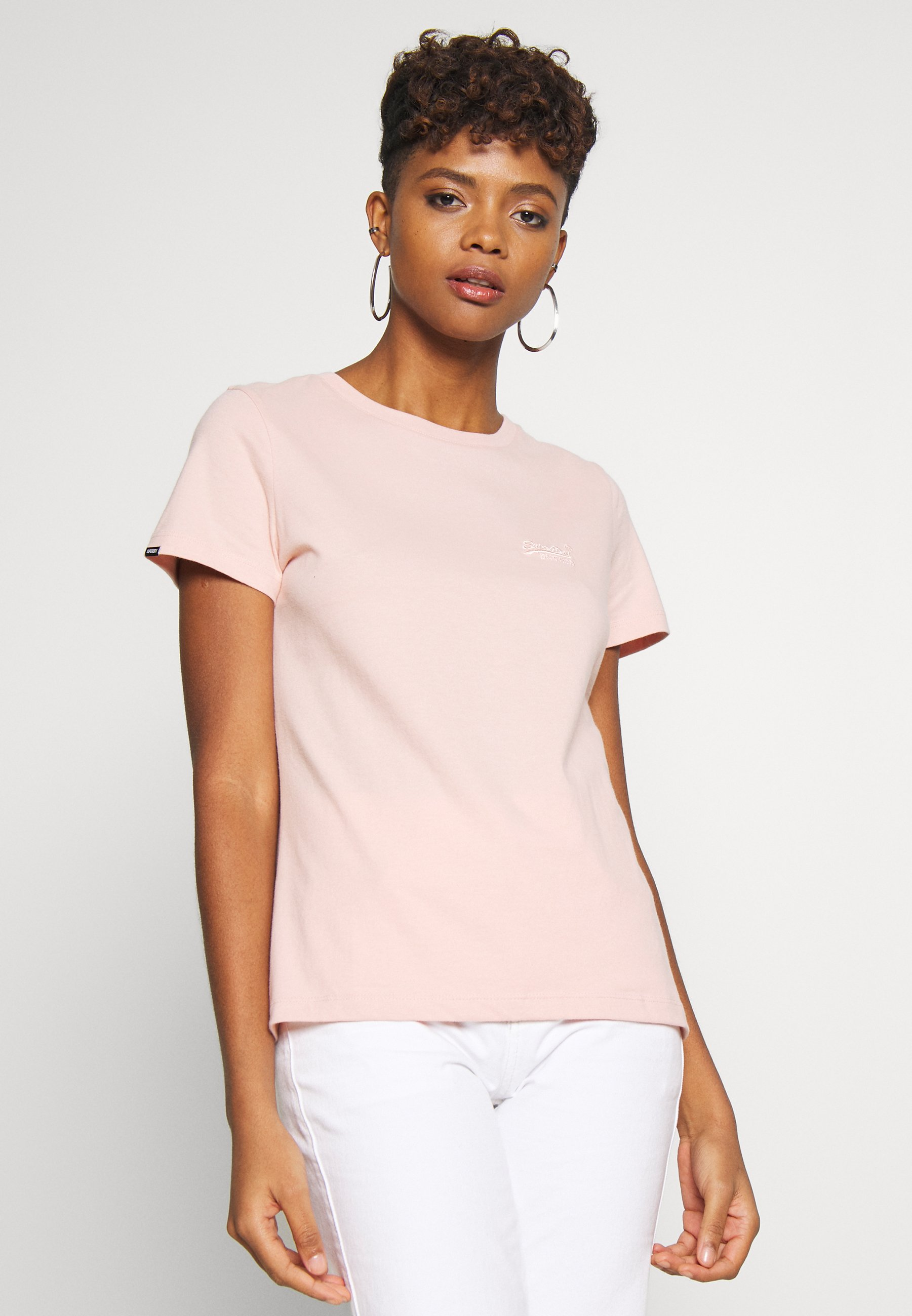 Superdry ELITE CREW TEE - T-shirts - dusty pink