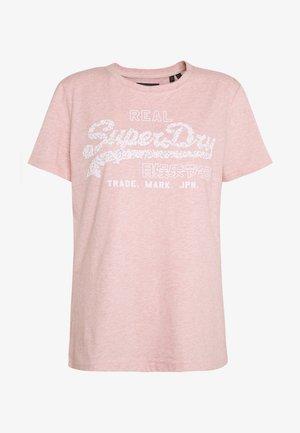 FLORAL INFILL ENTRY TEE - Camiseta estampada - soft pink marl