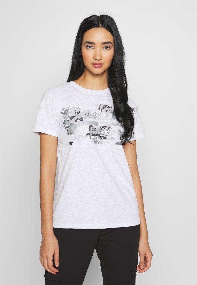 ROSE PANEL ENTRY TEE - T-shirt print - grey