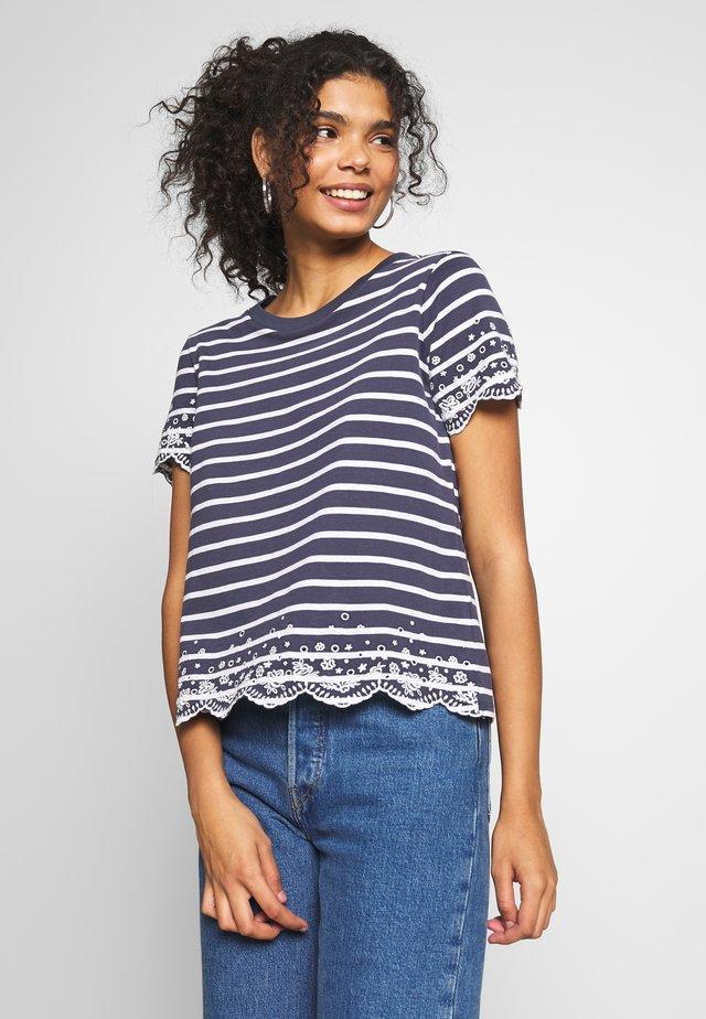 SUMMER SCHIFFLI TEE - T-Shirt print - navy