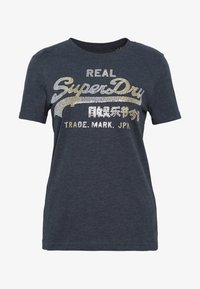 Superdry - STITCH ENTRY TEE - T-shirts med print - eclipse navy marl - 4