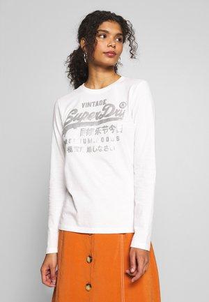 PREMIUM GOODS METALLIC TOP - T-shirt à manches longues - chalk white