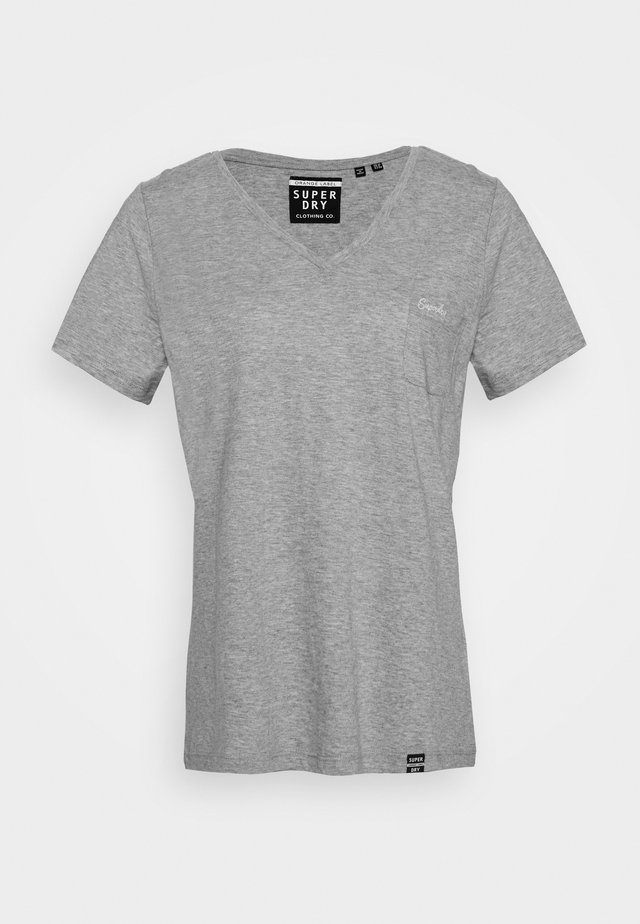 ESSENTIAL VEE TEE - T-shirt basic - grey