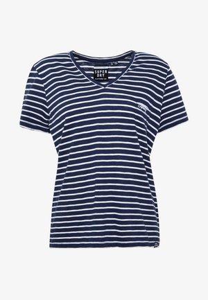 ESSENTIAL VEE TEE - T-shirts - navy stripe