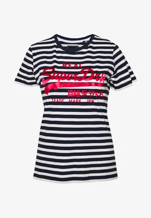 STRIPE ENTRY TEE - T-shirts med print - navy