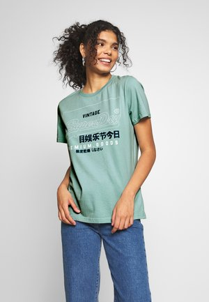 T-shirt con stampa - fresh mint