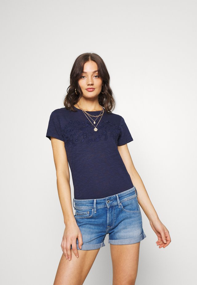 TINSLEY EMBROIDERY TEE - T-shirt basic - atlantic navy