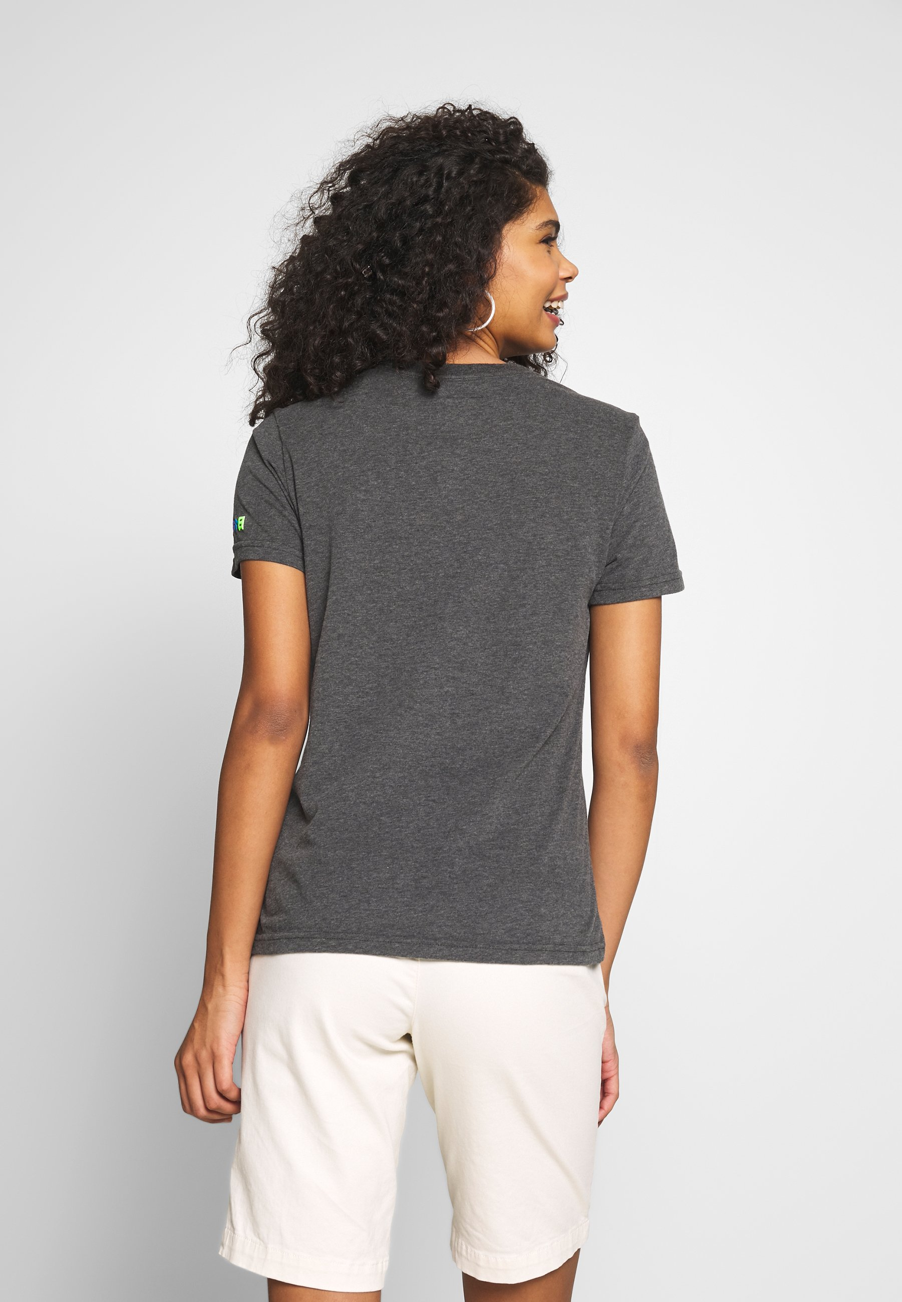 Superdry RAINBOW ENTRY TEE - Print T-shirt - charcoal marl