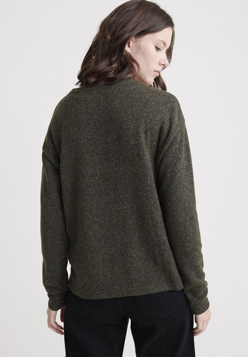 Superdry Bluzka z długim rękawem - khaki