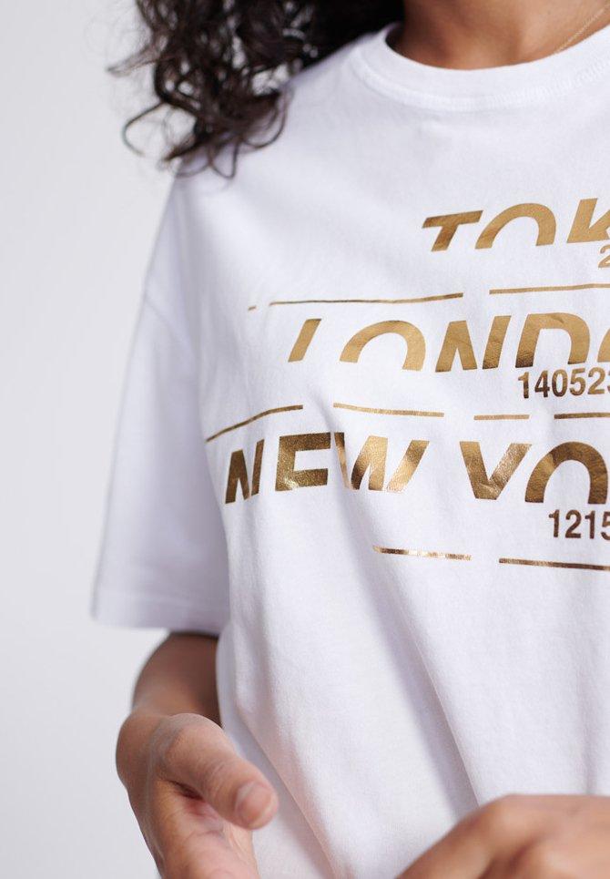Superdry City Box - T-shirt Med Print White