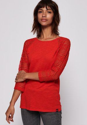 Blouse - scorched red