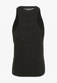 Superdry - CROCHET INSERT VEST - Top - black - 1