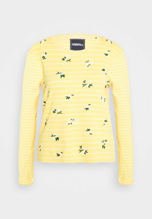 STRIPE - Bluzka z długim rękawem - yellow