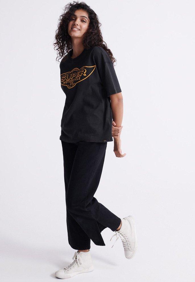 Superdry MERCH STORE BAND - T-shirt z nadrukiem - black