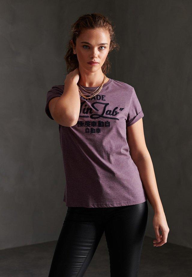 WORKWEAR CHAINSTITCH  - T-shirt print - dry elderberry