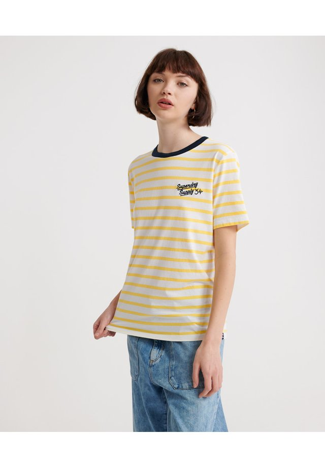 DAKOTA - T-shirt print - yellow stripe