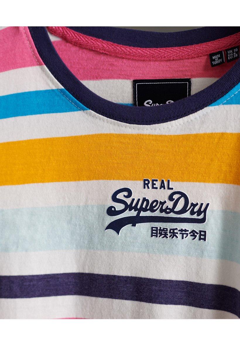 Superdry T-shirt con stampa - couture white multi stripe