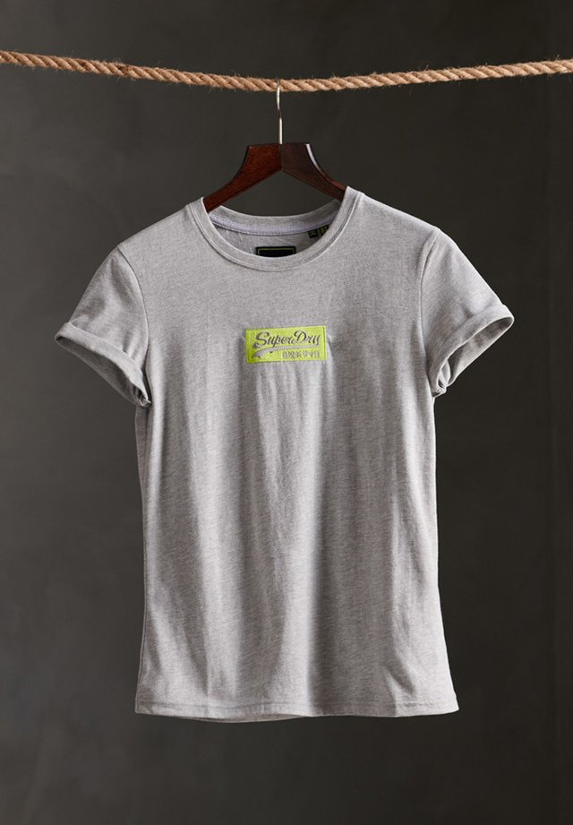 MICRO EMBROIDERED BOX - T-shirt basic - grey marl