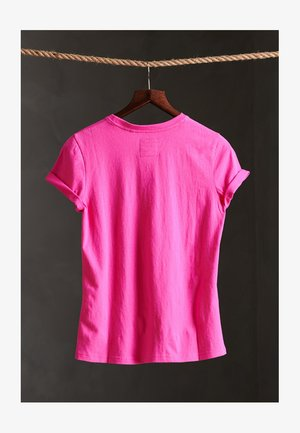 MICRO EMBROIDERED BOX - Basic T-shirt - sweet fuchsia