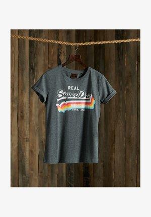 T-shirt print - charcoal marl