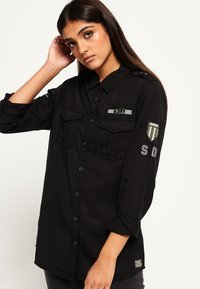 Superdry - MILITÄR-STIL  - Paitapusero - washed black - 0