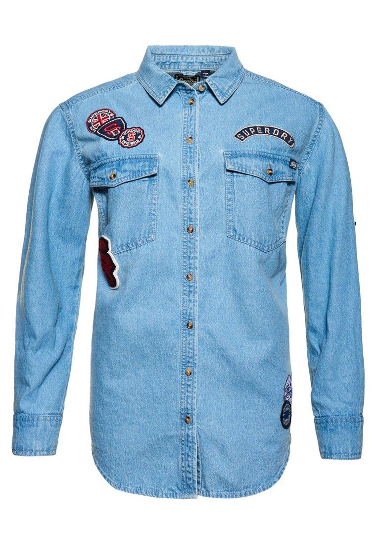 Superdry Overhemdblouse - pool blue badged
