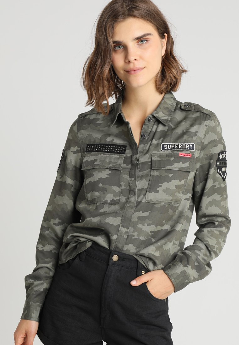 Superdry - EMMA MILITARY - Koszula - khaki