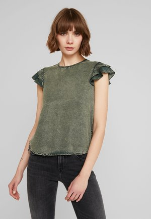 CHRISTA RUFFLE - Blusa - washed khaki