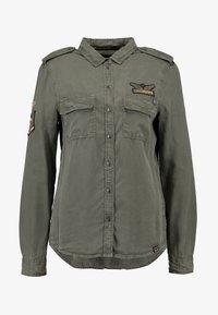 Superdry - HARLOWE MILITARY - Camisa - washed khaki - 5