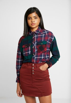 BAILEE MIXED CHECK - Blouse - navy