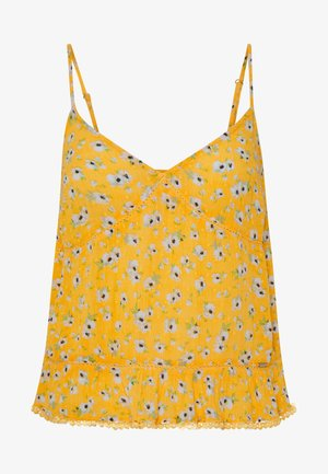 SUMMER CAMI - Linne - yellow floral
