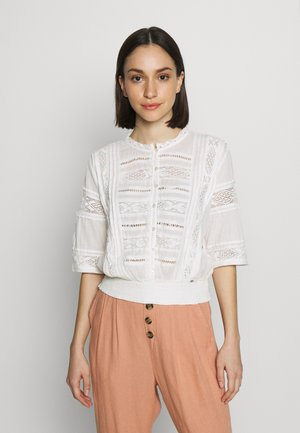 ELLISON TEXTURED BLOUSE - Blusa - oyster