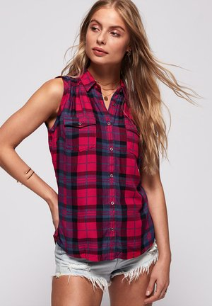Camisa - red blue check