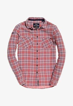 LEIGHTON - Button-down blouse - red