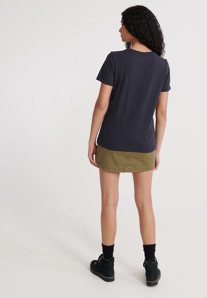 Superdry Workwear T-shirt - Med Print Dark Carbon Navy