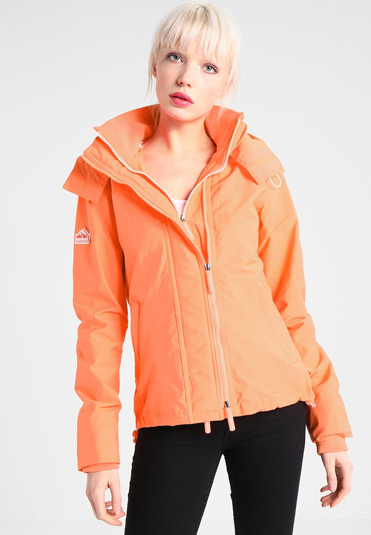 Superdry - PRISM TECHNICAL HOODED ZIP WINDCHEATER - Blouson - coral/ecru