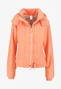 Superdry - PRISM TECHNICAL HOODED ZIP WINDCHEATER - Blouson - coral/ecru - 6