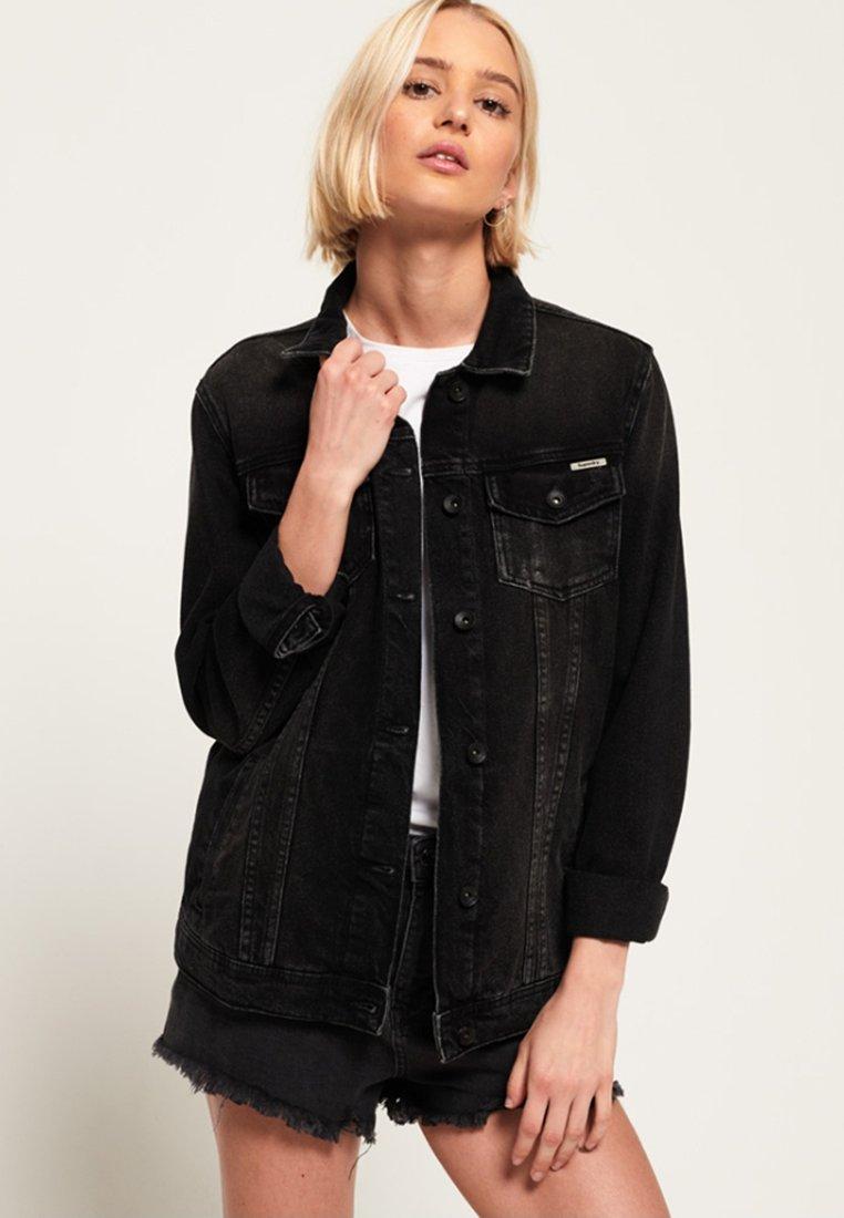 Superdry Kurtka jeansowa - black
