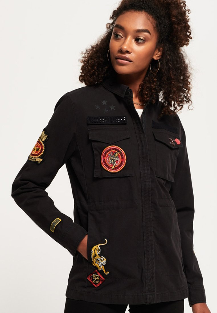 Superdry - ROOKIE ARMY - Chaqueta fina - washed black