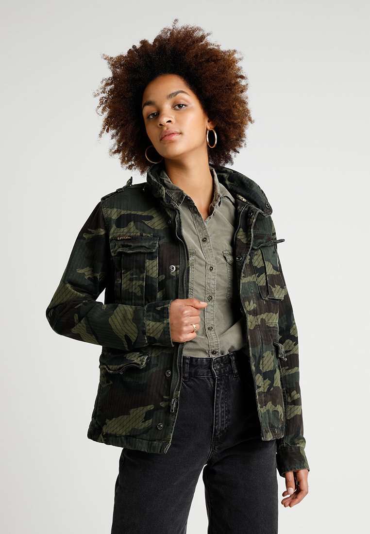 Superdry - JADE ROOKIE POCKET JACKET - Tunn jacka - khaki/brown