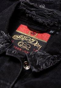 Superdry - Kurtka jeansowa - black - 4