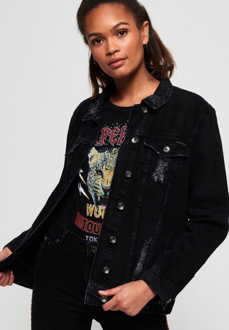Superdry - Kurtka jeansowa - black