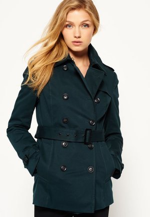 WINTER BELLE  - Trenchcoat - super dark teal