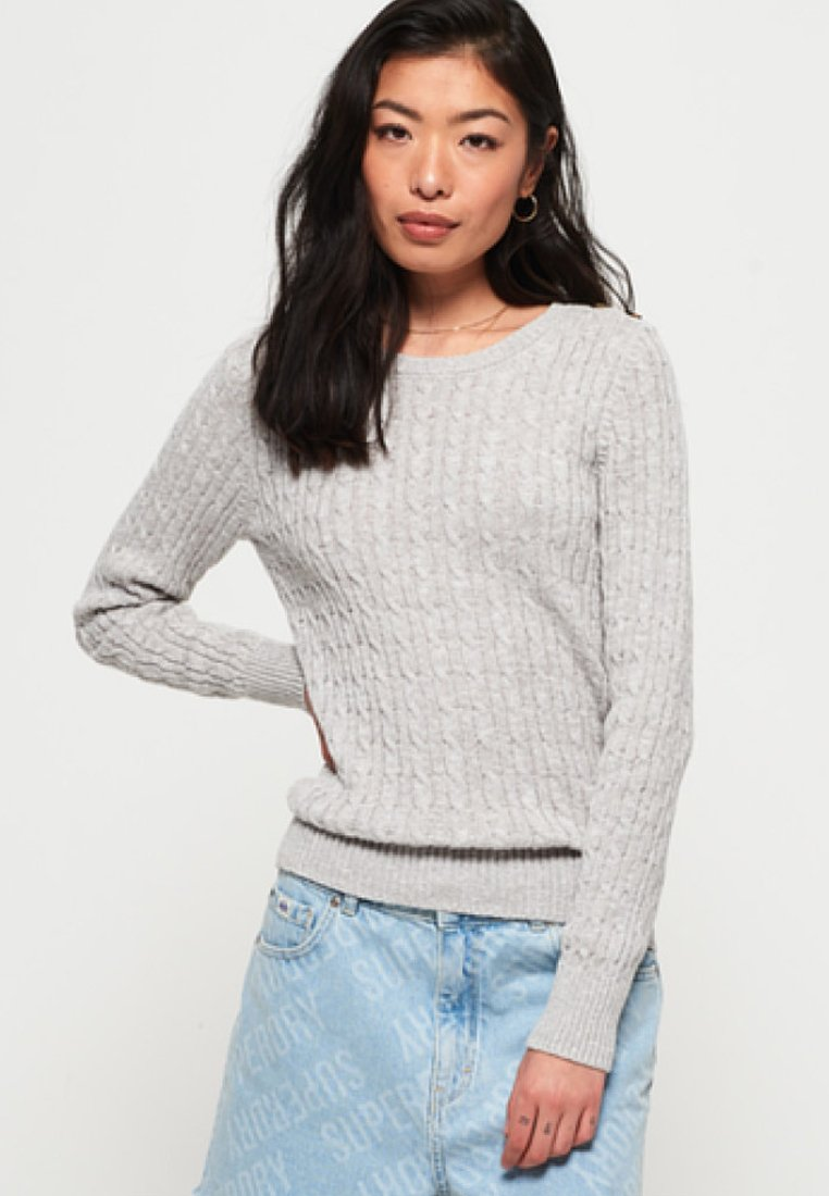 CablePullover Superdry Croyde Croyde Superdry Grey Ice 7g6vYbyf